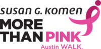 Austin MORE THAN PINK Walk logo