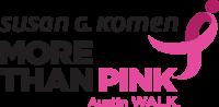 Austin MORE THAN PINK Walk logo
